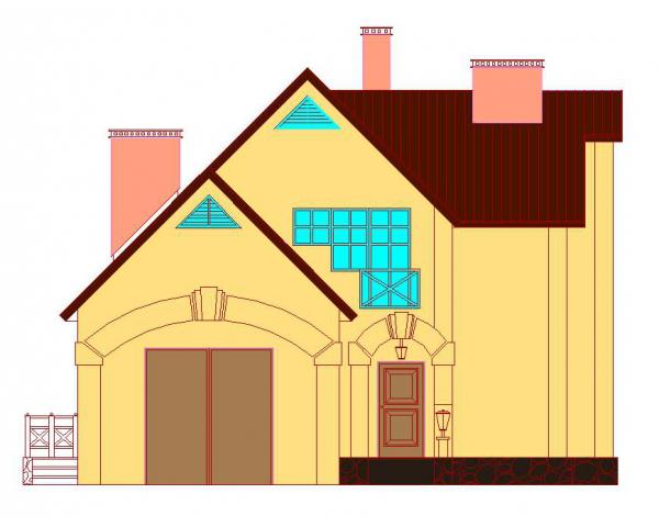 Проект коттеджа № этажный жилой дом с мансардным этажом в г  2 этажный жилой дом с мансардным этажом в г Вологда